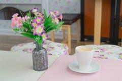Kaffeetasse - Weinleseeffekt-Artbilder stockbild