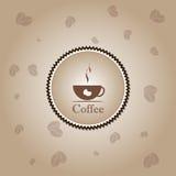 Kaffeetasse-Zeit-Konzeptdesignhintergrund Stockfotos