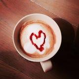 Kaffeetasseabbildung gebildet im Ziegelsteinillustrator Stockbilder