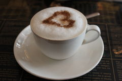 Kaffeetasseabbildung gebildet im Ziegelsteinillustrator Lizenzfreie Stockfotografie