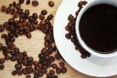 Kaffeetasseabbildung gebildet im Ziegelsteinillustrator Stockfotografie