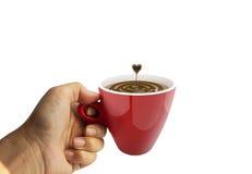 Kaffeetasseabbildung gebildet im Ziegelsteinillustrator Lizenzfreies Stockfoto