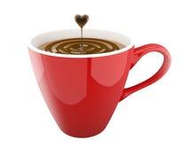 Kaffeetasseabbildung gebildet im Ziegelsteinillustrator Lizenzfreie Stockbilder