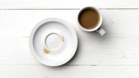 Kaffeetassefleck stockbilder