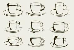 Kaffeetasseformen Lizenzfreie Stockfotos