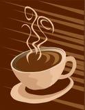 Kaffeetassehintergrund lizenzfreie abbildung