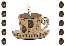 Kaffeetasseikone vektor abbildung