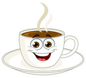 Kaffeetassekarikatur Stockfoto