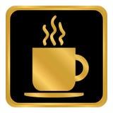 Kaffeetasseknopf Stockfotografie