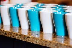 Kaffeetassekontrast Stockfotografie