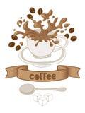 Kaffeetasselöffel Vektor Abbildung