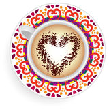 Kaffeetassemandala Vektor Abbildung