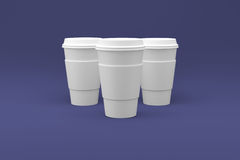 Kaffeetassen bereit zu Ihrem Logo Stockbild