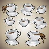 Kaffeetassen einstellten en stock abbildung