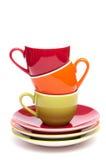 Kaffeetassen im vertikalen Format lizenzfreie stockfotos