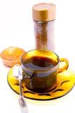 Kaffeetassen und Kuchen Stockbild