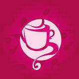 Kaffeetassevektor stockfotos