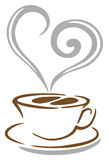 Kaffeetassevektor Lizenzfreie Stockfotos