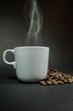 Kaffeetasseweiß Stockfoto