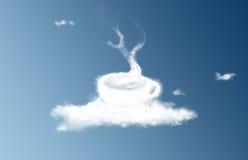 Kaffeetassewolke Stockbild