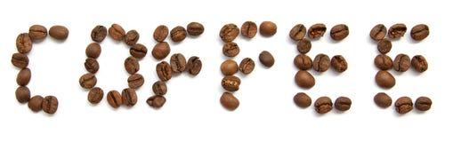 Kaffeetext Stockfotos