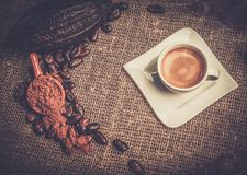Kaffeethemastillleben Stockfotografie