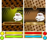 kaffeetikett Royaltyfri Foto