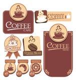 Kaffeetikett Arkivbild