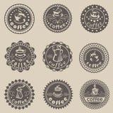 Kaffeetiketter Arkivfoton