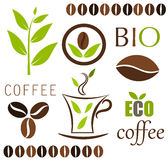 Kaffeevektorelemente Stockfotografie