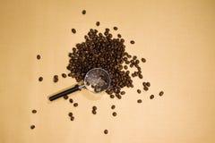 Kaffeevergrößerungsglas Lizenzfreie Stockfotografie