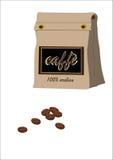 Kaffeeverpackung Stockfoto