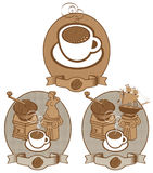 Kaffeeweinlese Stock Abbildung