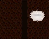 Kaffeeweinleseabdeckungs-Designschablone Lizenzfreies Stockfoto