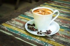 Kaffeeweinleseholz Lizenzfreies Stockbild