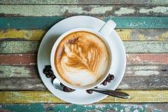 Kaffeeweinleseholz Lizenzfreie Stockfotografie