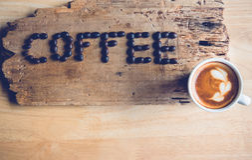 Kaffeewort Stockfoto