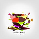 kaffeexplosion Royaltyfria Bilder