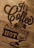 Kaffeezeichen Lizenzfreies Stockfoto