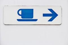 Kaffeezeichen Lizenzfreie Stockfotos