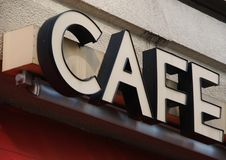 Kaffeezeichen Lizenzfreies Stockbild