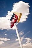 Kaffeezeichen entlang historischem Weg 66 in Texas. Stockfoto