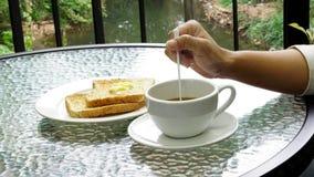Kaffeezeit morgens Lizenzfreies Stockfoto