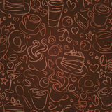 Kaffeezeit, nahtloser Hintergrund Lizenzfreie Stockfotografie