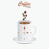 Kaffeezeitdesign Stockfoto