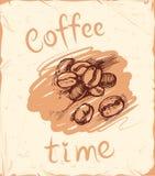Kaffeezeithintergrund Stockfoto
