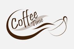 Kaffeezeitlogo-Vektordesign kreativ vom Kaffeelogo Kaffee s vektor abbildung