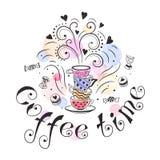 Kaffeezeitplakat Stockbilder