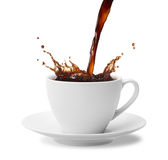 kaffefärgstänk royaltyfri fotografi