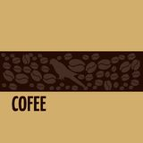 Kaffefågellogo Fotografering för Bildbyråer